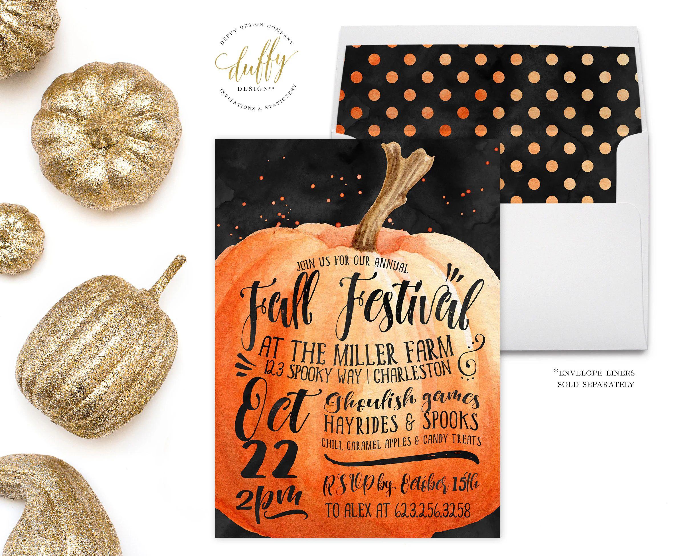 fall festival invite wording