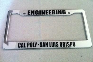 Cal Poly Pomona Alumni License Plate Frame Lajulak Org