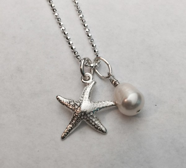 Sterling Silver Starfish Necklace-beach Necklace-summer