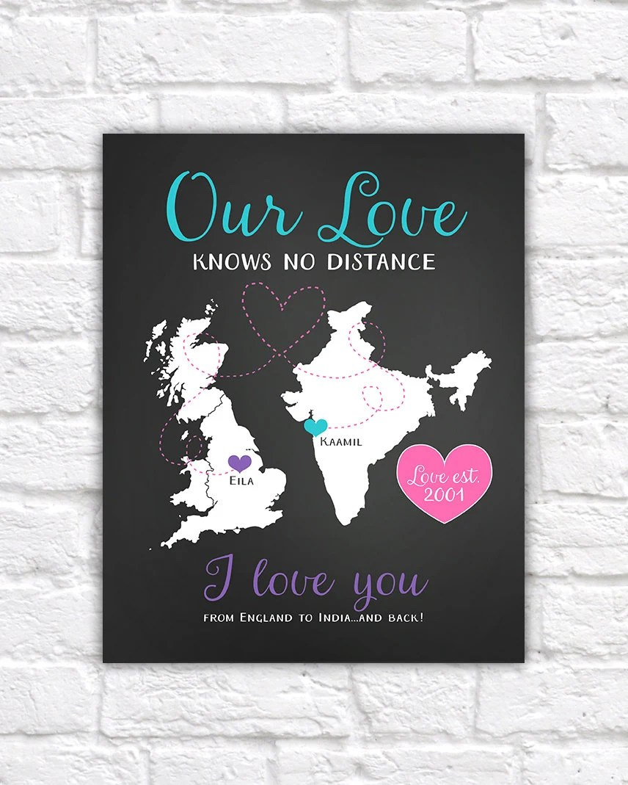 Long Distance Anniversary Gift For Boyfriend Girlfriend