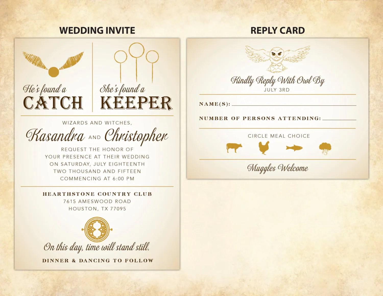 Harry Potter Wedding Invitation Diy Printable
