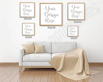 Square photo size mockup chart livingroom digital download also wall art etsy rh