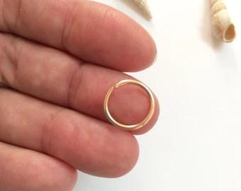 15 Gauge Lip Ring Simple Gold Tiny