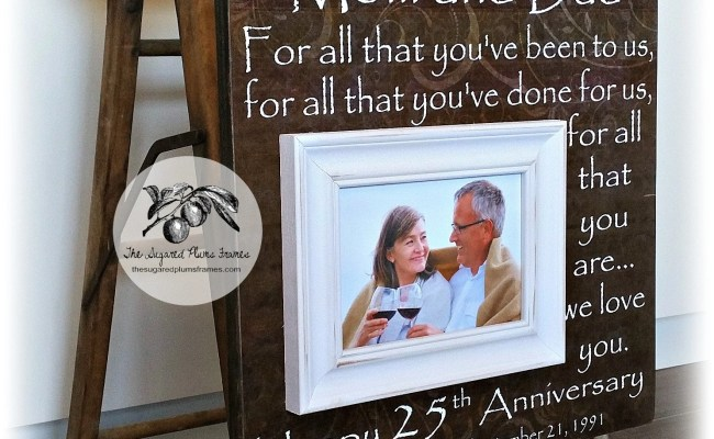 25th Anniversary Gifts For Parents Silver Anniversary Gift
