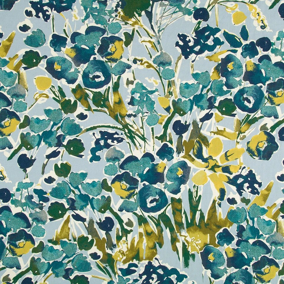 Abstract Floral Upholstery Fabric Digital Print