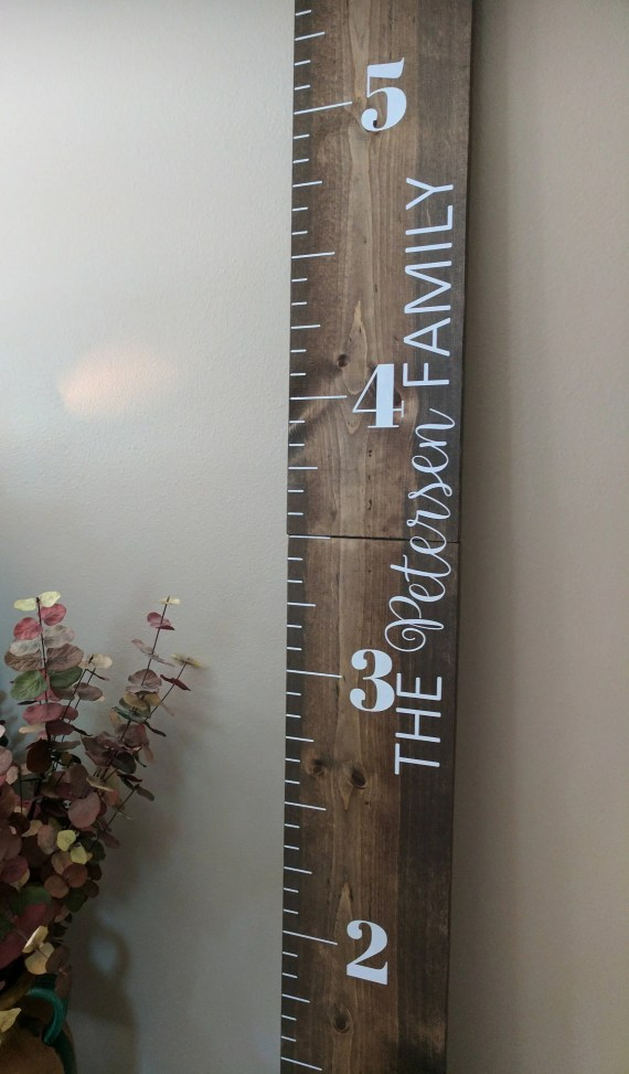 Custom Wooden Growth Chart Ruler
