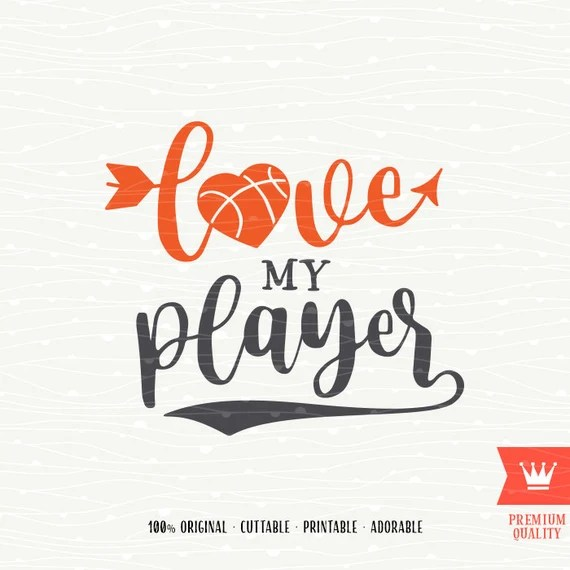Download Love My Basketball Player SVG Decal Cutting File Basketball