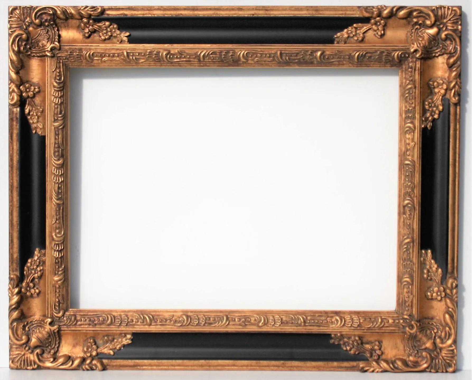 Large Gold Black Ornate Frames Baroque Wedding
