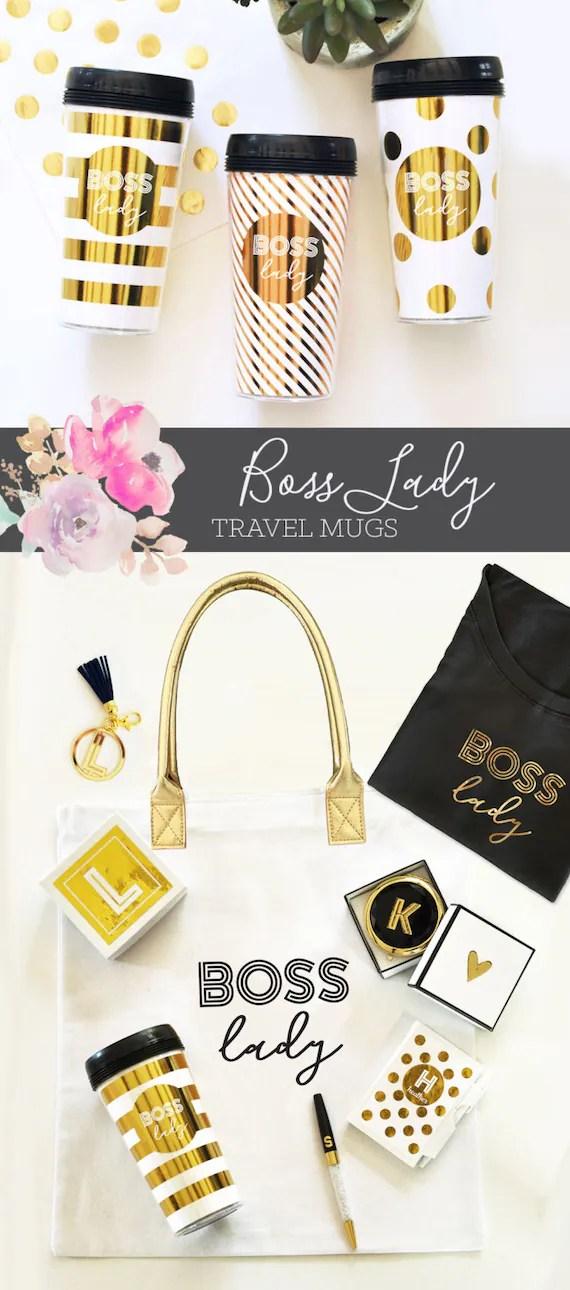 Boss Lady Travel Mug Boss Lady Coffee Mug Gift For Boss Gift