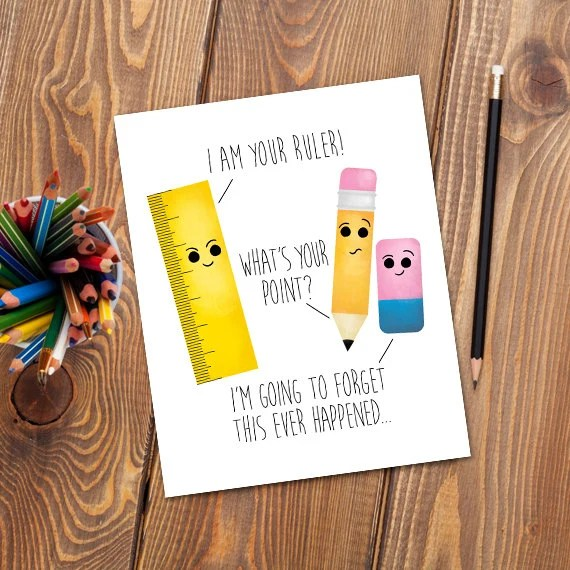 I Am Your Ruler Digital 8x10 Printable Poster Pencil