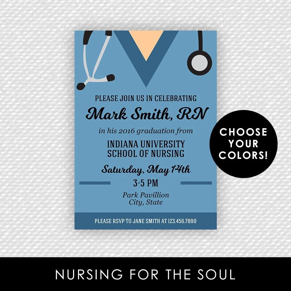 Nurse Invitation Graduation Nursing