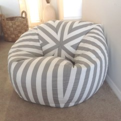 Teal Bean Bag Chair Cheap Black Covers For Rent Canopy Stripe Grey And White Stripes Cover