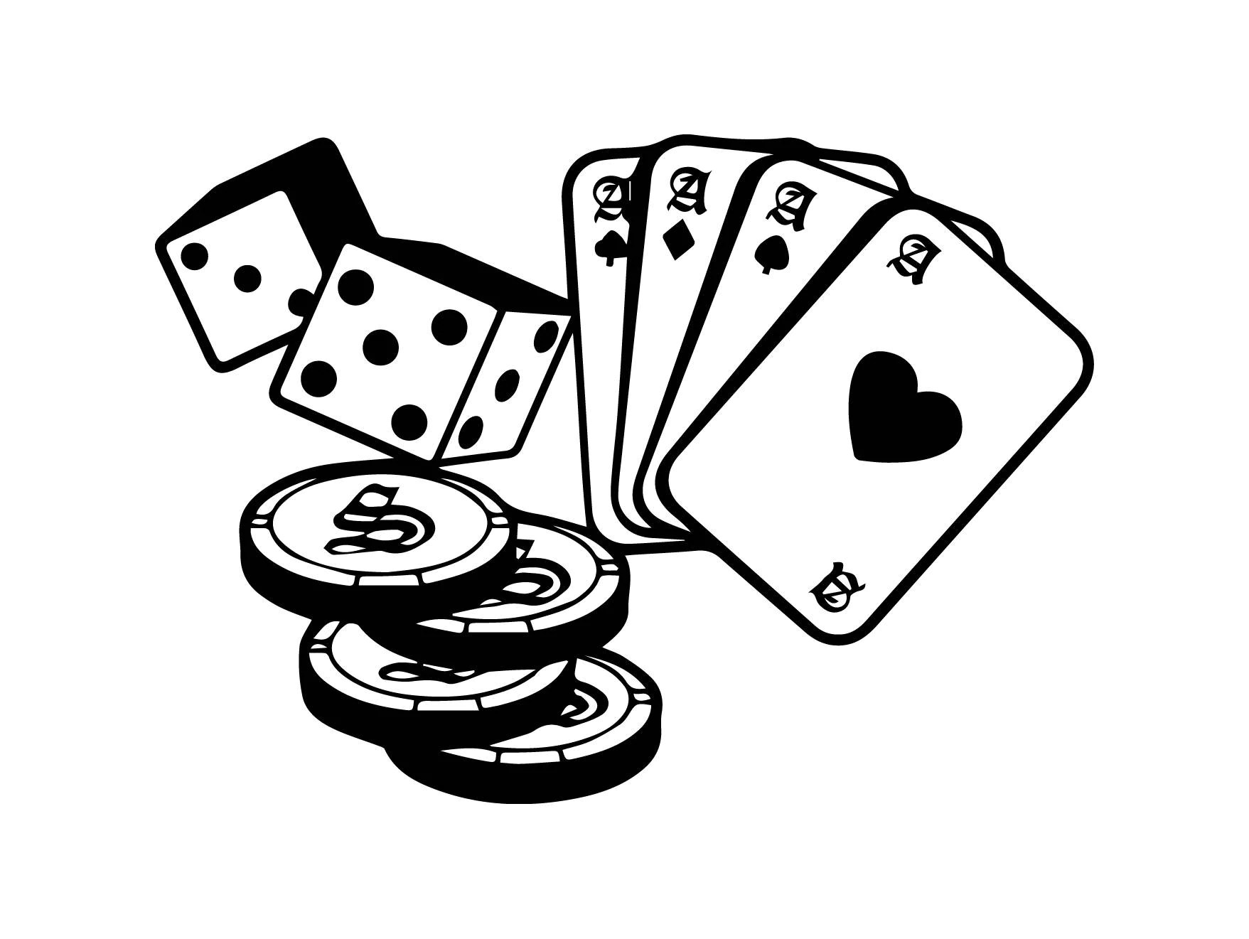 Casino Cards Game Gambler Dice Ships Money Business Poker