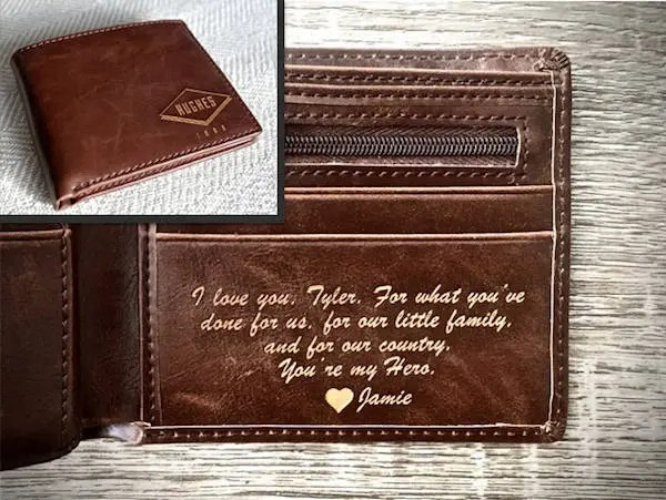 Boyfriend Gift Personalized Mens Wallet Husband Gift
