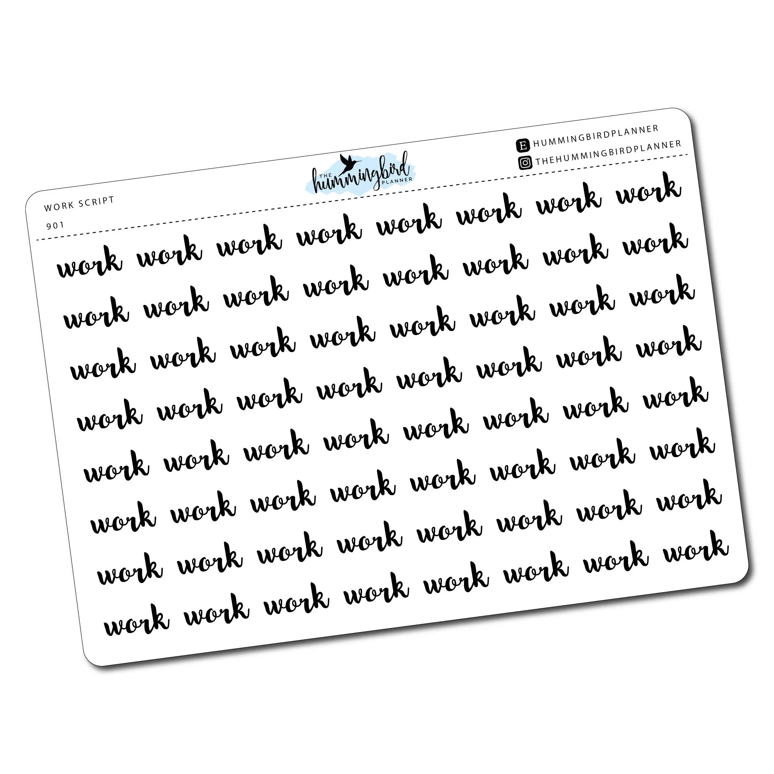 Work Script 901 Planner Stickers for MAMBI and Erin