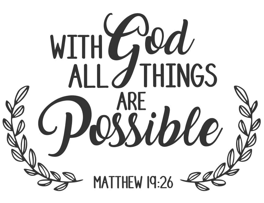 Download With God all things are possible svg Bible verse svg heaven
