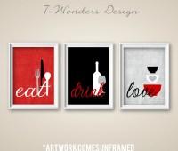 Red kitchen decor | Etsy