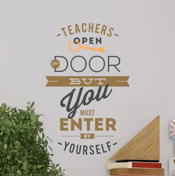 Teachers Open the Door Wall Decal by WallVinylCreations