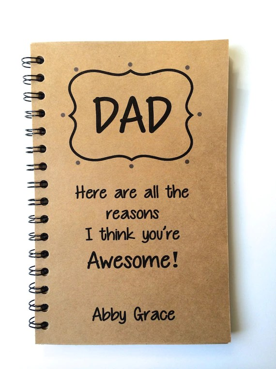 Fathers Day Gift Dad Gift From Daughter From Son Journal
