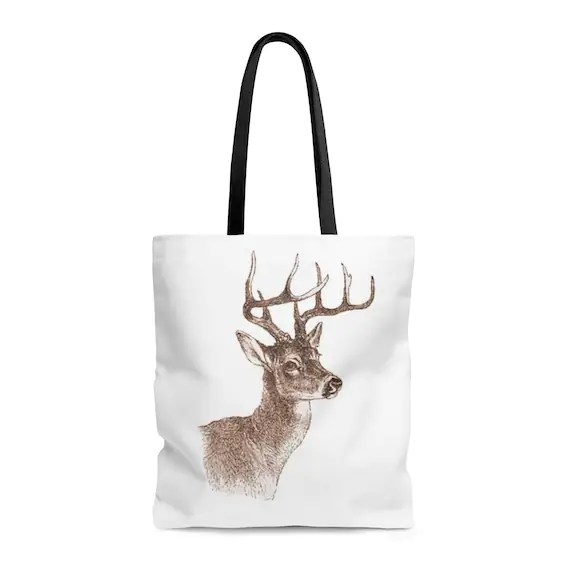 Buck Deer Tote Bag - The Perfect Gift for the Hunter in your life!