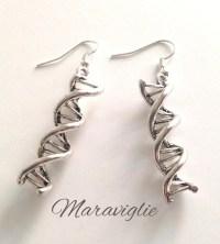 DNA Earrings Double Helix Earrings Science Jewelry