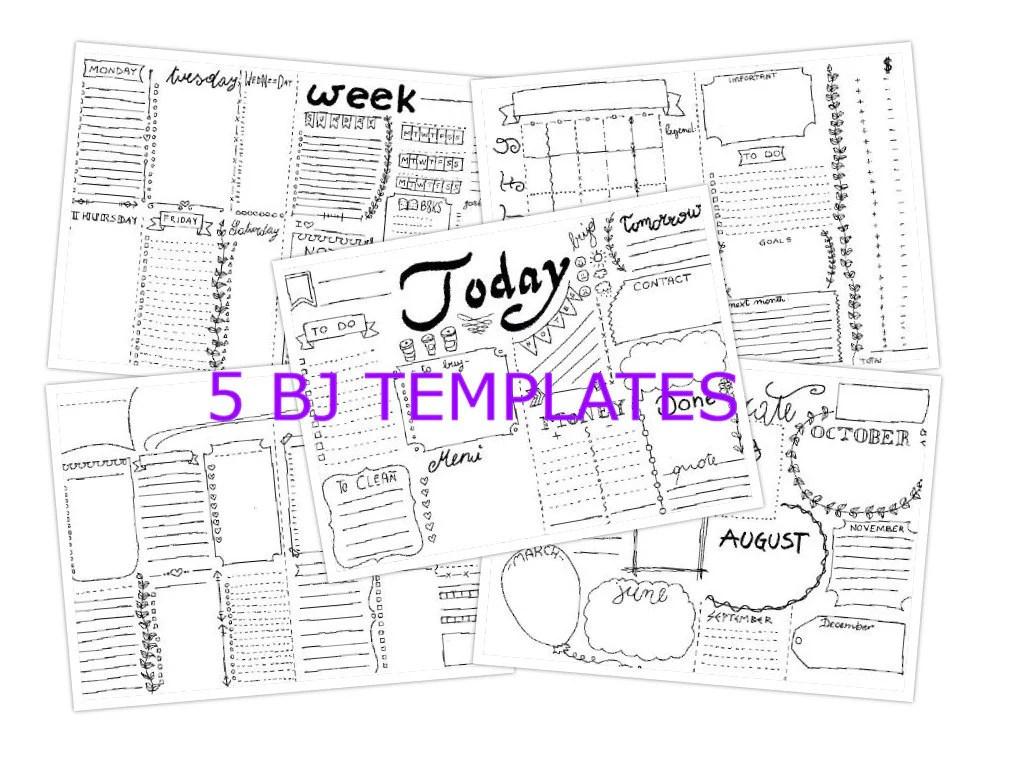 5 bullet journal planner agenda stampare starter kit pdf