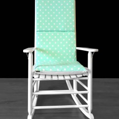 Polka Dot Rocking Chair Cushions Party Covers Near Me Pads Rockin Mint Green Cushion Cover