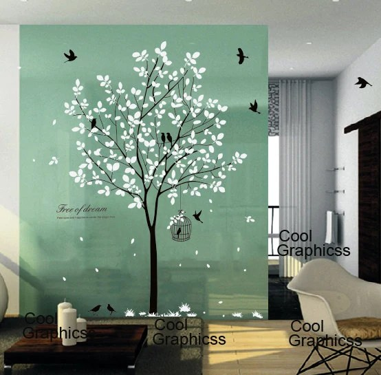 Tree Wall Decal Nursery Wall Sticker Office Wall Decal Bedroom