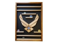 Air Force Challenge Coin Holder Military 50 Coin Display