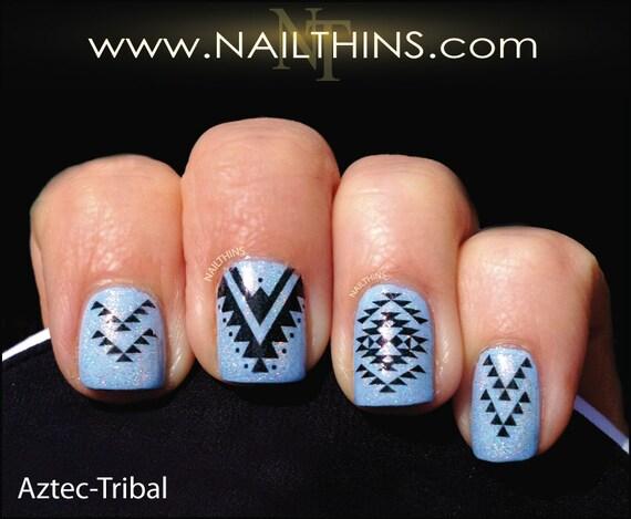 aztec nail decal nailthins