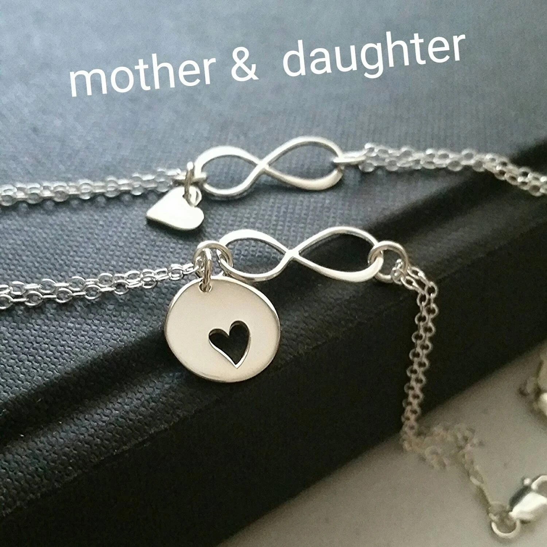 Mutter der Brautgeschenk MutterTochterInfinityArmband Set