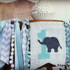 Elephant High Chair Bridal Shower Birthday Highchair Banner Photo Prop
