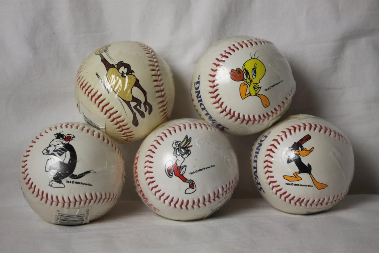 Cartoon Baseball Sylvester Vintage Nip Regulation Size