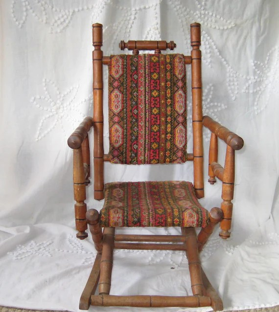 Antique Rocking Chair Childs rocking chair upholstered