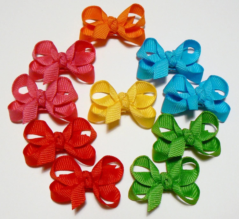 girls infant hair bow set little