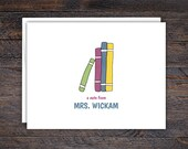 Stack of Books Notecard S...