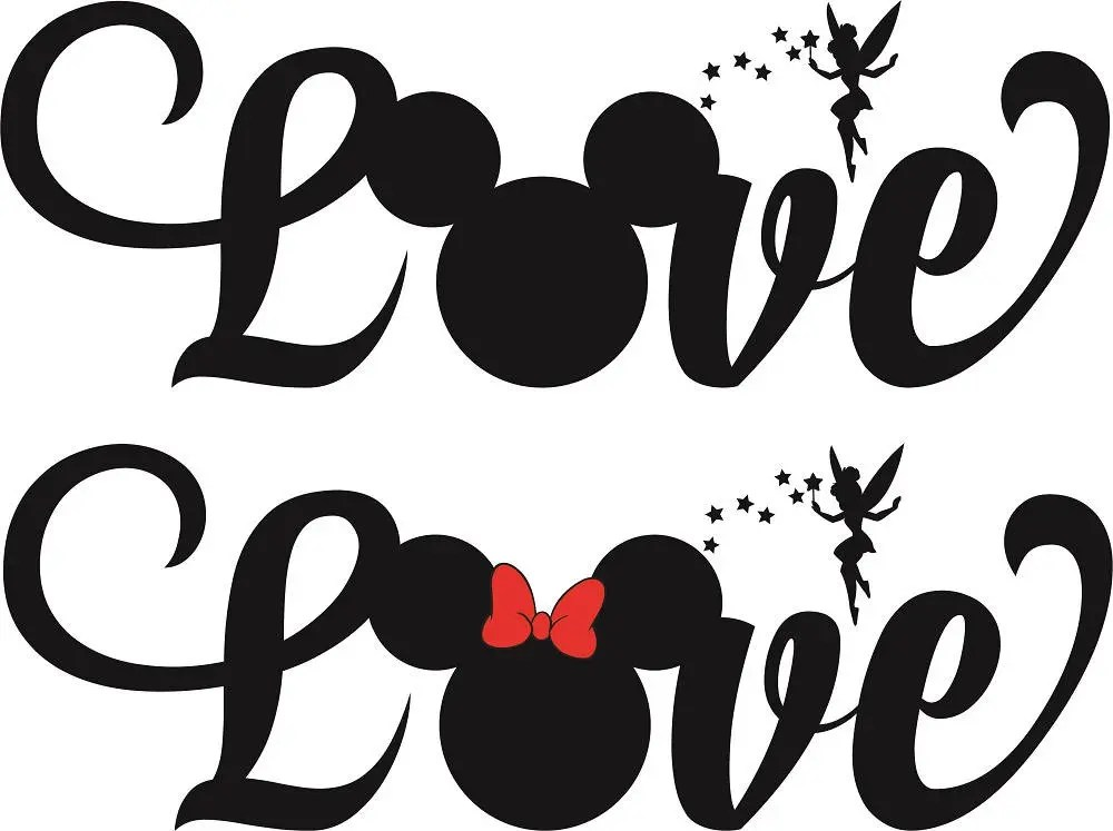 Download Love Mickey SVG Cutting file Cricut Laser engrave Cutting