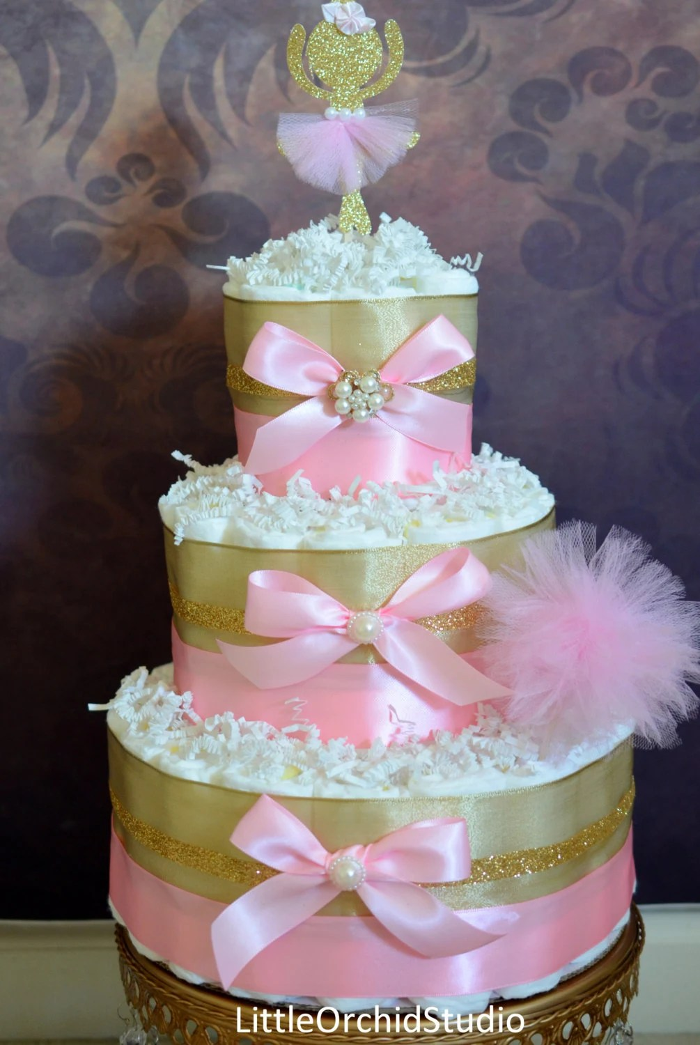 Items similar to Pink and Gold baby shower Princess
