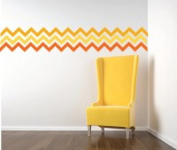 Chevron Wall Decal FABRIC WALL DECAL Reusable Peel and Stick