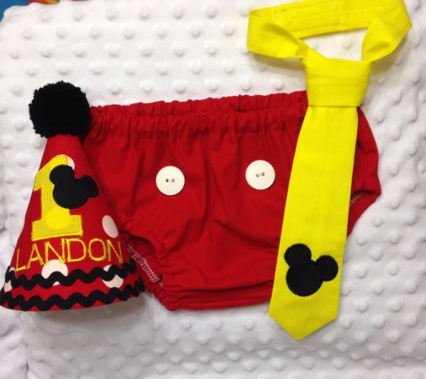 Mickey Mouse 1st Birthday Smash Cake Outfit