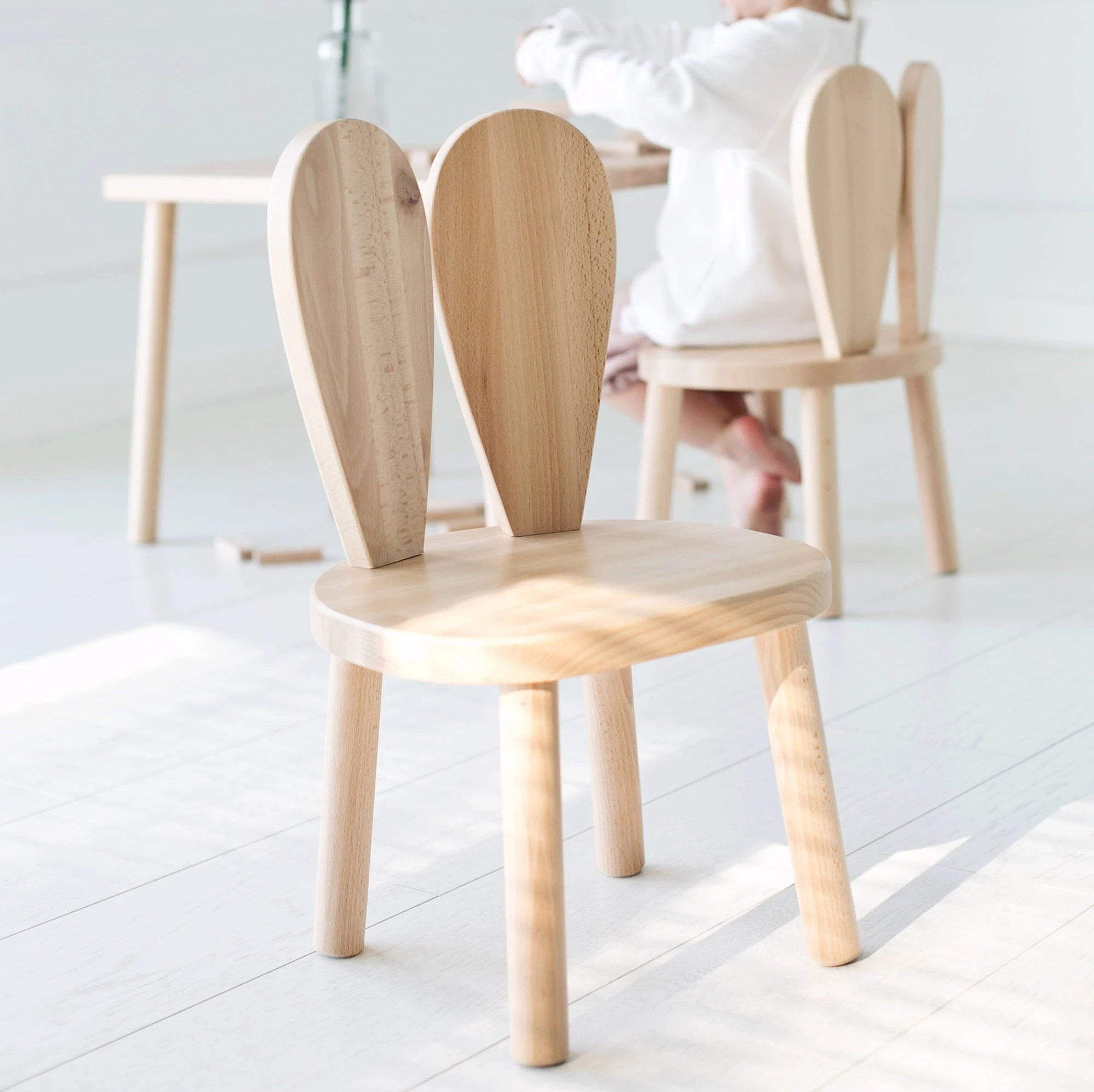 wooden youth chair posture office chairs review kids bunny natural littlenomad