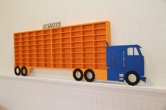 Hot Wheels Wood Truck Display Case