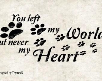 Download Pet memorial svg   Etsy