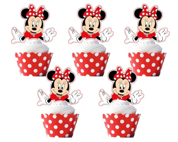 Minnie Mouse Cupcake Wrappers And Toppers
