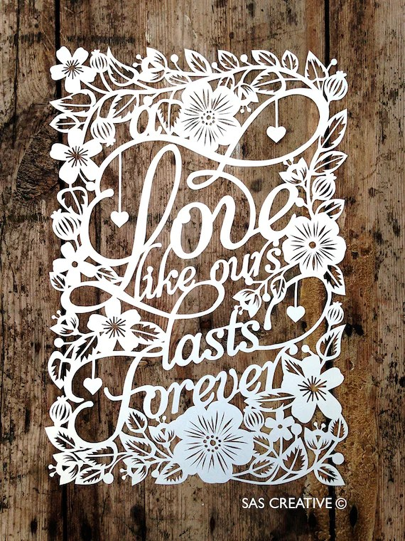 Papercut Wedding Card