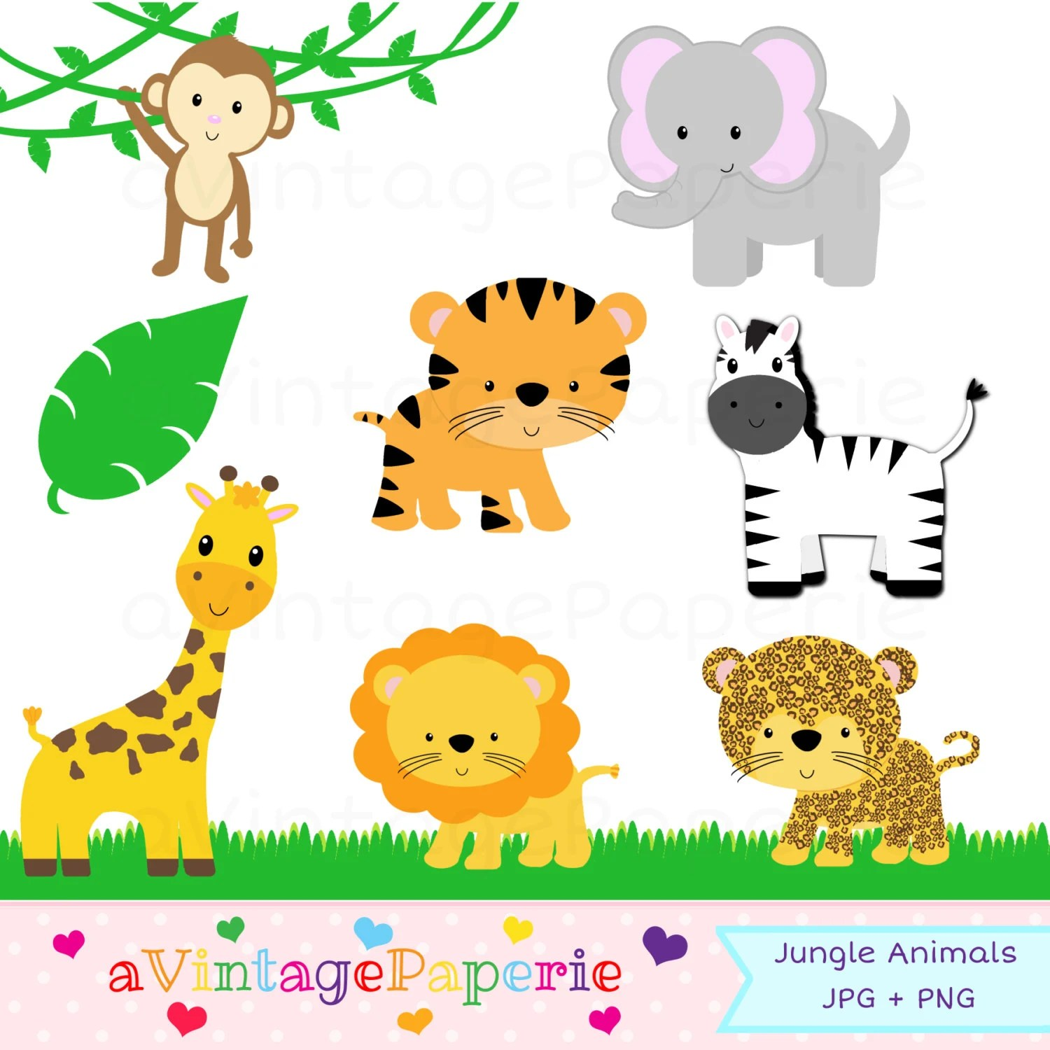 Jungle Animal Clipart Jungle Animal Clip Art Zoo Animal