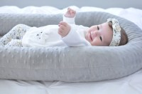 Cosleep Baby Bed white and gray cosleeping Baby Pillow