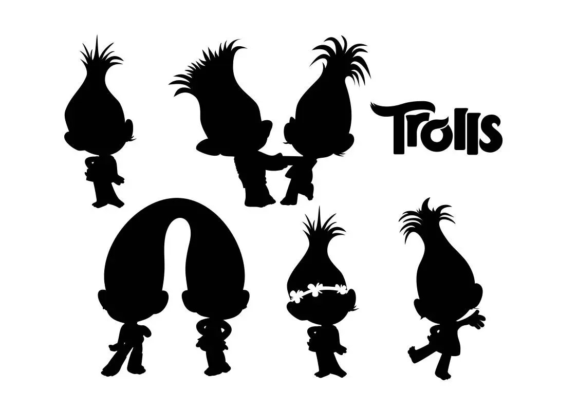 silhouettes of trolls svg