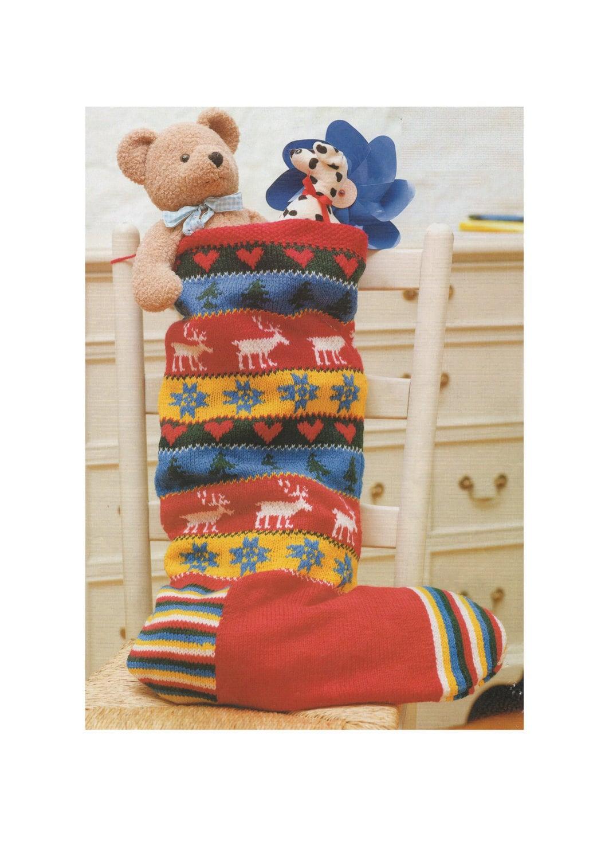 Christmas Stocking Graph Pattern Knitting