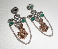 Chinese knot with dragon earrings